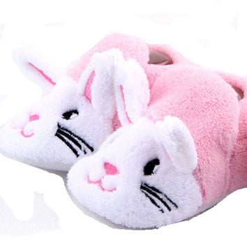 Adorable  Pink and White Bunny  Baby Booties (0-12 months)