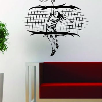 Best Volleyball Wall Art Products On Wanelo - Vinyl volleyball wall decals