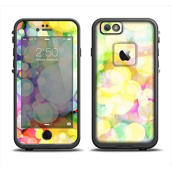 The Glistening Colorful Unfocused Circle Space Apple iPhone 6 LifeProof Fre Case Skin Set
