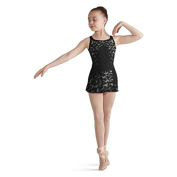 Child Papillon Mesh Back Tank Leotard CL8195 Bloch (Papillion-Butterfly Print)
