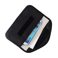 Anti-signal RF Signal Blocker Shield Case Bag Black for Large-size Cellphone GPS