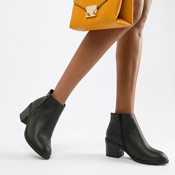 New Look Wide Fit Heeled Boot at asos.com