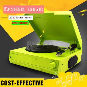 Music Hall Colorful 3-Speed Home Turntables Modern LP Vinyl Recorder Phono Player Built-in Stereo Speakers Headphone/Line Out