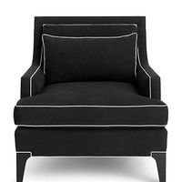 Kate Spade Norwich Chair Black/Ivory ONE