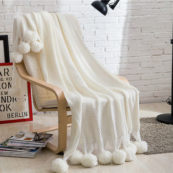 Hot Deal Photography Props Knit Sofa Blanket [9595849999]