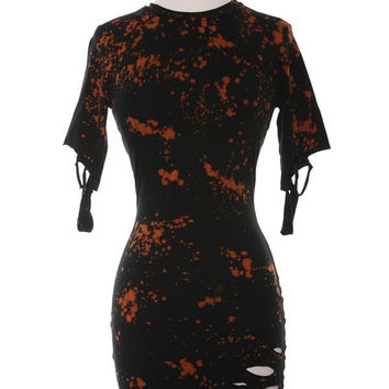 Splattered T-Shirt Dress