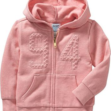 Old Navy Embroidered Fleece Hoodies For Baby