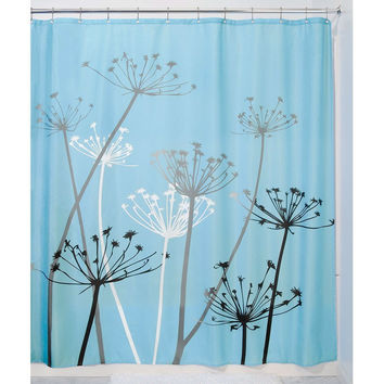 Shower Curtains black and blue shower curtains : Best Black Flower Shower Curtain Products on Wanelo