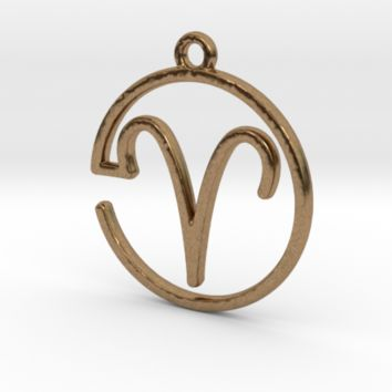 Aries Zodiac Pendant by Jilub on Shapeways