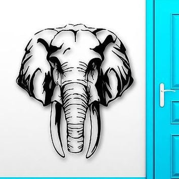 Wall Stickers Vinyl Decal Elephant Animal Hunting Safaris Great Decor (ig1808)