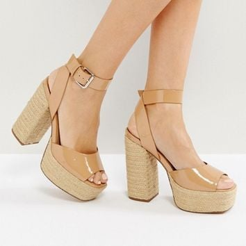 ASOS TOTTY Espadrille Platform Sandals at asos.com