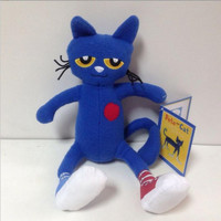 Famous American story book pete the cat I love my dirty shoes Hero Children's educational plush toys 35cm Toys Cat Model