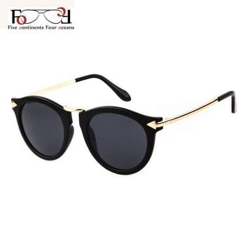 Women's Sunglasses Retro round vintage Metal glass