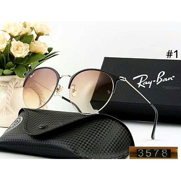 Ray Ban men and women personality versatile color film polarized sunglasses #1