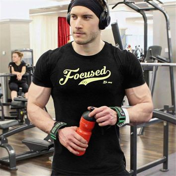 Sports T Shirt Gym Men Running T-shirt Summer Tops Fitness Tshirt Streetwear Mens Gym T-shirt Workout Crossfit Sport Tee Shirts