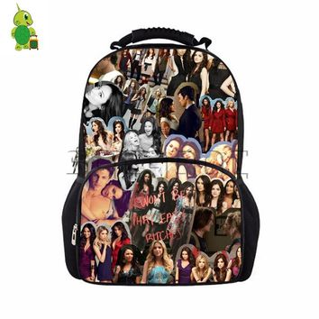 Popular TV Pretty Little Liars Collages Backpack Teenage Boys Girls School Bag Daily Laptop Backpack Large Capacity Travel Bags