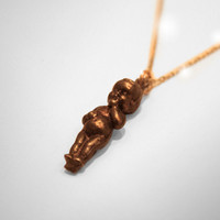 Cupie Doll Bronze and Gold Necklace