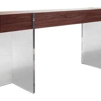 "Console Levitas 30"", Acrylic / Lucite, Console Table"