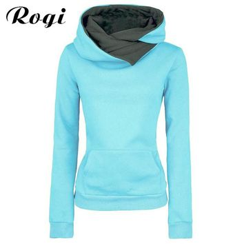 Rogi Sudaderas Mujer 2017 Women Long Sleeve Hooded Hoodies Casual Harajuku Female Jackets Coat Tracksuits Jumper Sweatshirts 2XL