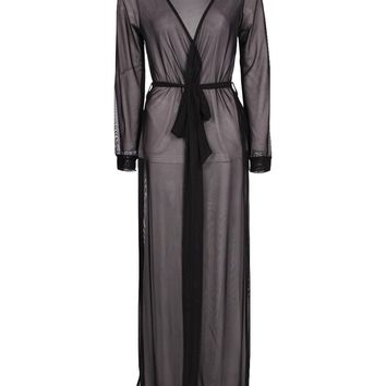 Emily Maxi Length Sheer Robe