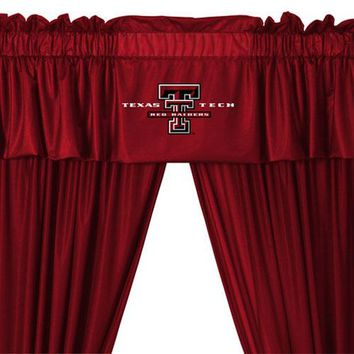 NCAA Texas Tech Red Raiders 5pc Curtains and Valance Set