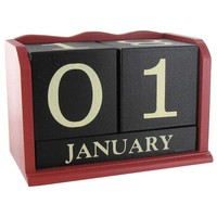 Red, Black & White Wood Calendar Blocks | Hobby Lobby
