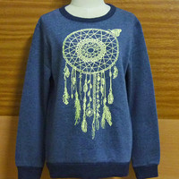 Womens Tribal Winter Cold Dreamcatcher T-Shirt  American Indian Shirt Sweater Dream Catcher  VINTAGE Native American Sweater S M L XL XXL