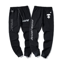AAPE Printed men's stretch leggings sports pants sports fitness pants trousers