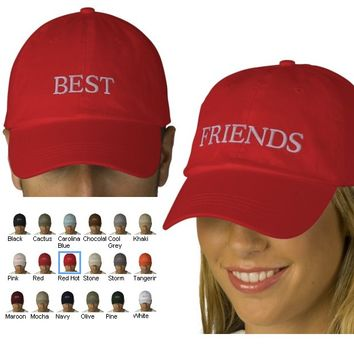 Hat A - Best Friends Matching Embroidered Hats from Zazzle.com
