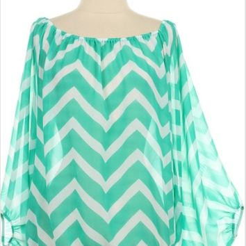 Loose Fit Chevron Top