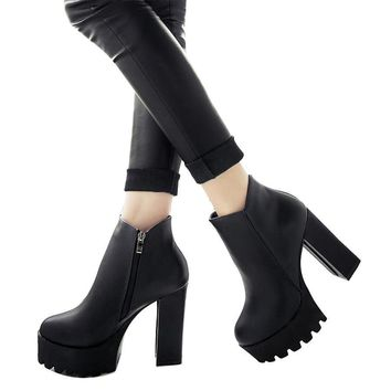 Thick With Ankle Boots Shoes
