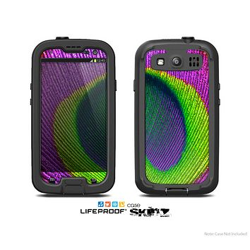 The Neon Peacock Feather Skin For The Samsung Galaxy S3 LifeProof Case