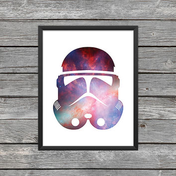 Stormtrooper Poster Stormtrooper Print Stormtrooper Art Star Wars Art Star Wars Print  Outer Space Art Galaxy Art Nebula Art Download