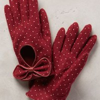 Valloire Dotty Gloves by Anthropologie Raspberry One Size Gloves