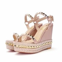 Christian Louboutin CL Pyraclou 6cm or 11cm Wedges Style #41 - Best Online Sale