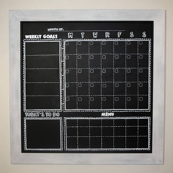 Wall Calendar Large, Calendar Chalkboard Magnetic, Productivity Planner, Home Command Center, Daily Meal Planner, Weekly Goal Setting 3 X 3'