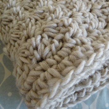 Baby Afghan - Crochet Baby Set - Throw and Blanket - Crochet Hat - Baby Shower - New Born Gift - Crochet Blanket - Couverture - Uncinetto