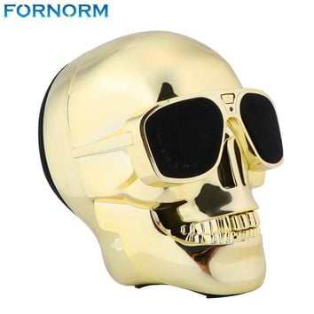 Fornorm Skull Wireless Bluetooth Speaker Sunglass NFC Skull Speaker Mobile Subwoofer Multipurpose