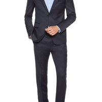 'Aeron/Hamen' | Slim Fit, High Pigmented Super 130 Virgin Wool Suit by HUGO