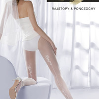 Charme 03-306 Tights in White by Gabriella Hosiery