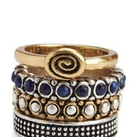 Lapis Stacked Ring Set - Jewelry - Lucky Brand Jeans