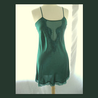 New Green V Neck Chemise Size Small by darlingtoniavintage on Etsy