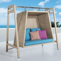 Large Rattan Hanging Chair - Opulentitems.com