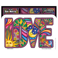 Dan Morris - Love Window Sticker on Sale for $2.99 at HippieShop.com