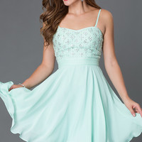 Short Mint Homecoming Dress 7364