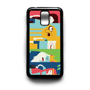 faces of Adventure Time Samsung Galaxy S3 S4 S5 Note 2 3 4 HTC One M7 M8 Case