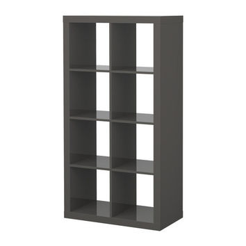 "EXPEDIT Shelving unit - high gloss gray - 31 1/8x58 5/8 "" - IKEA"