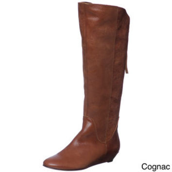 Steven by Steve Madden Women's 'P-Ilana' Leather Riding Boots | Overstock.com