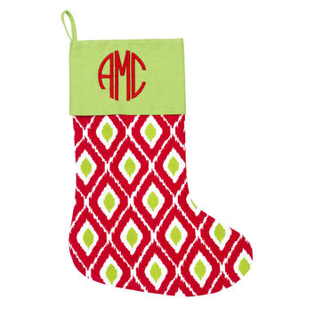 Holiday Ikat Stocking