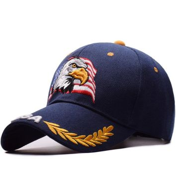 High Quality Spring Summer Baseball Cap For Men Women Outdoor Sun Hat Eagle Embroidery USA Sports Hats Casquette Caps